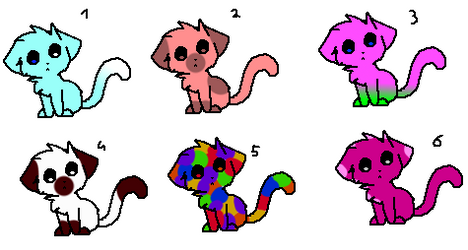Cat Adoptables! [5/6 OPEN] by slipknotcats2