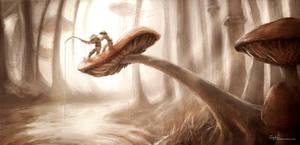 Mushroom Forest 2 by sydniart