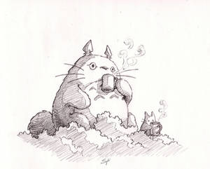 Coffee with Totoro