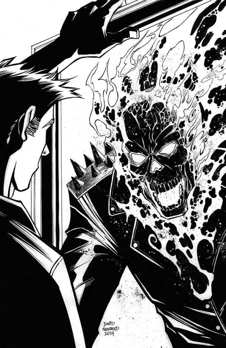 Ghostrider Inks72 by davidnewbold