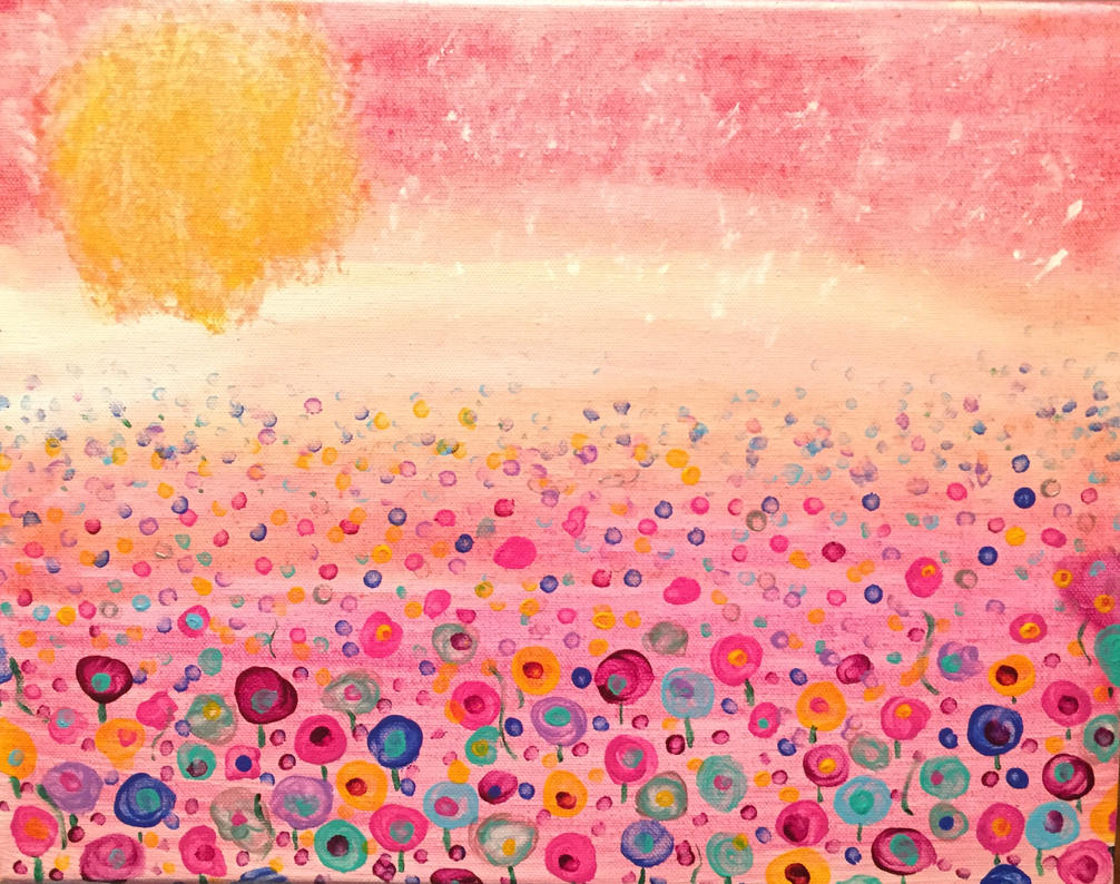 Pink flower field by nocomissions on deviantart pink flower field by nocomissions mightylinksfo