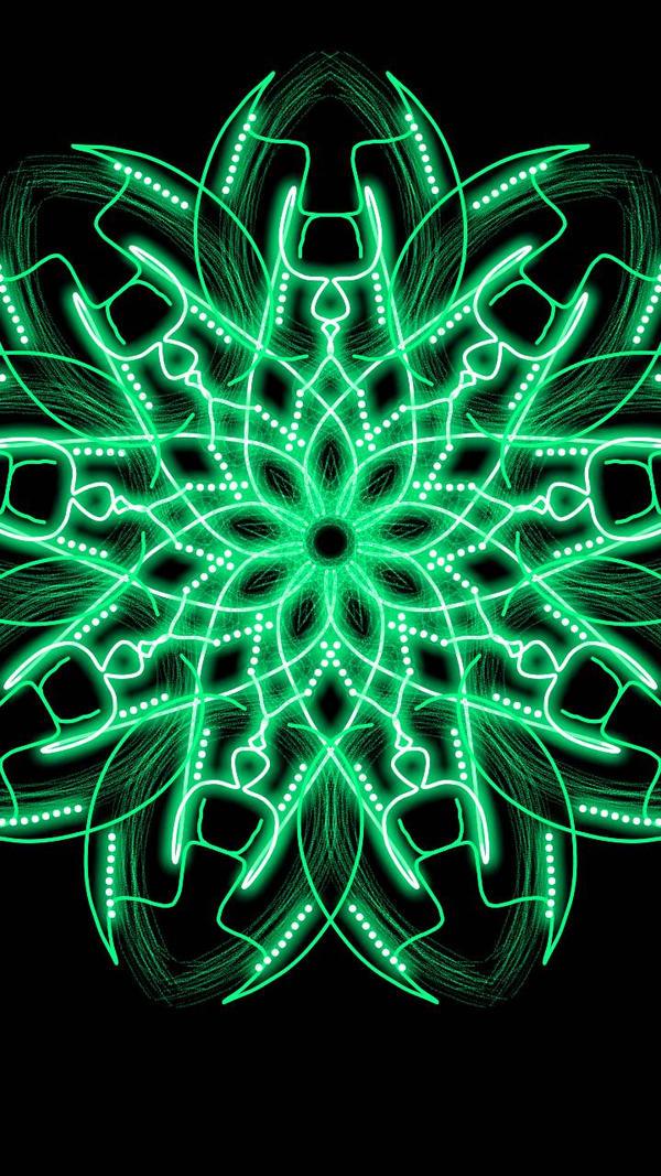 Green Flower by Mandita219