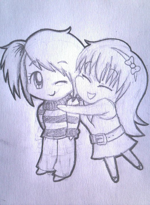 Chibi Hug by AnimeObsessed24 on DeviantArt