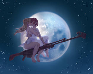 Night Flight - Commission by yuri-murasaki