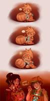 Vampire And Pumpkins