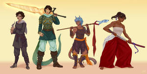 Characters line up commission