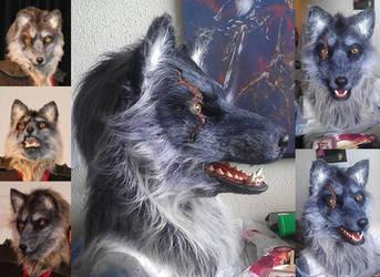 Scarred Wolf Mask by wynderkind
