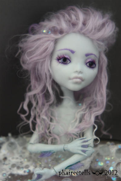 MH monster high repaint Lagoona Mermaid Portrait by phairee004