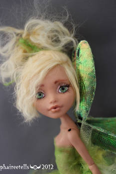 Monster High HOWLEEN fairy repaint PERI portrait