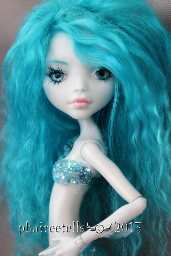 Monster high repaint Lagoona Aqua Mermaid portrait by phairee004