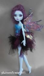 Monster high repaint custom Abbey fairy