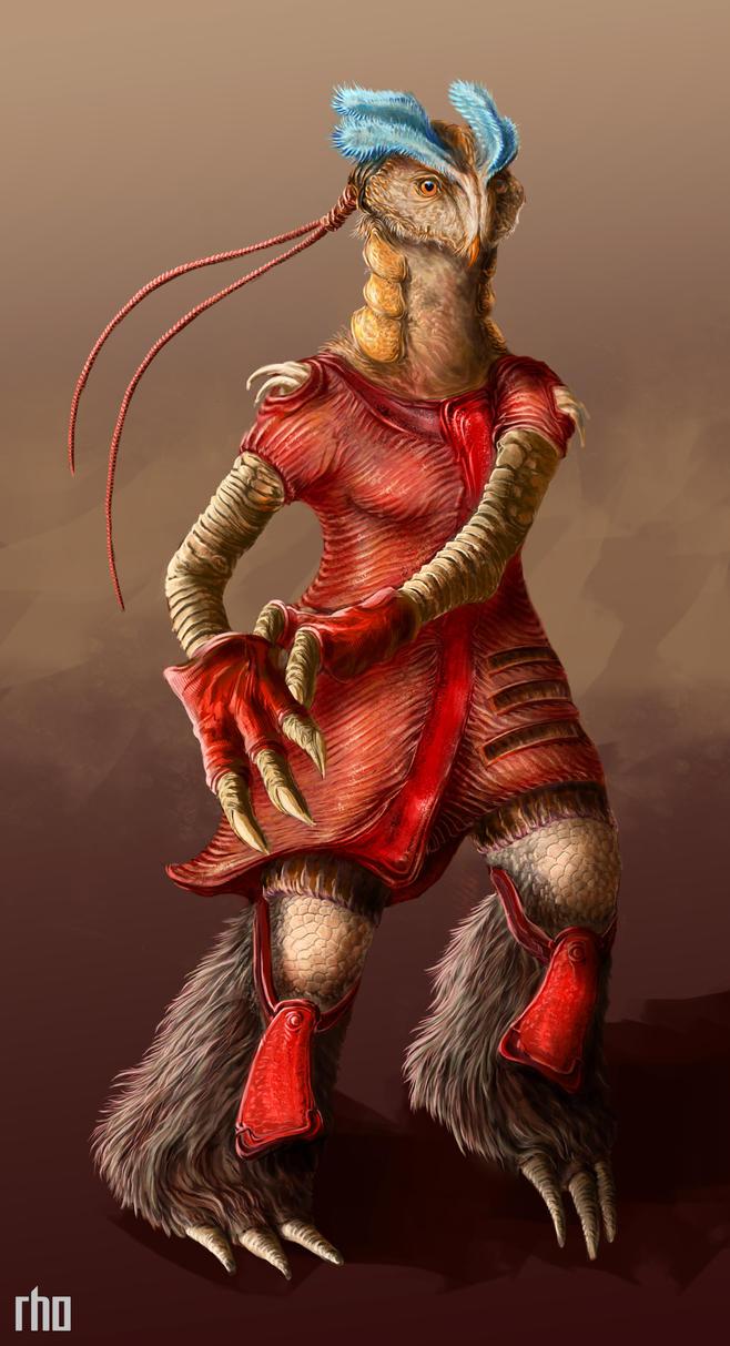 Alien Female Concept by SubjectRho