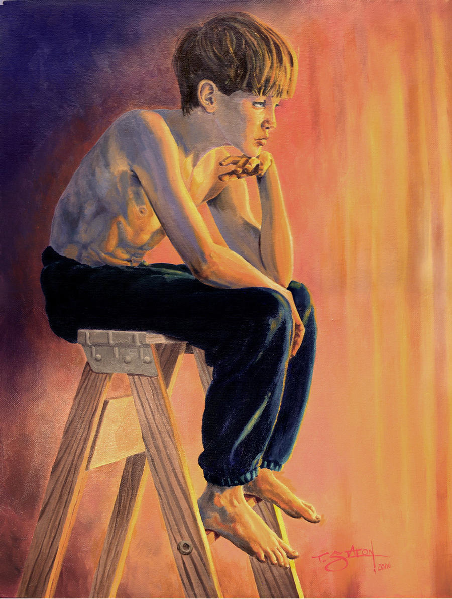 Boy Thinker by TWStatonGallery
