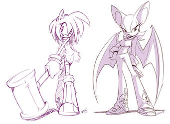 Sonic gals sort of... by EVMousser