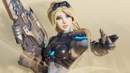 [Overwatch] Nova : ez? :) by Brownie-Ari