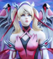 [Overwatch] Pink Mercy by Brownie-Ari