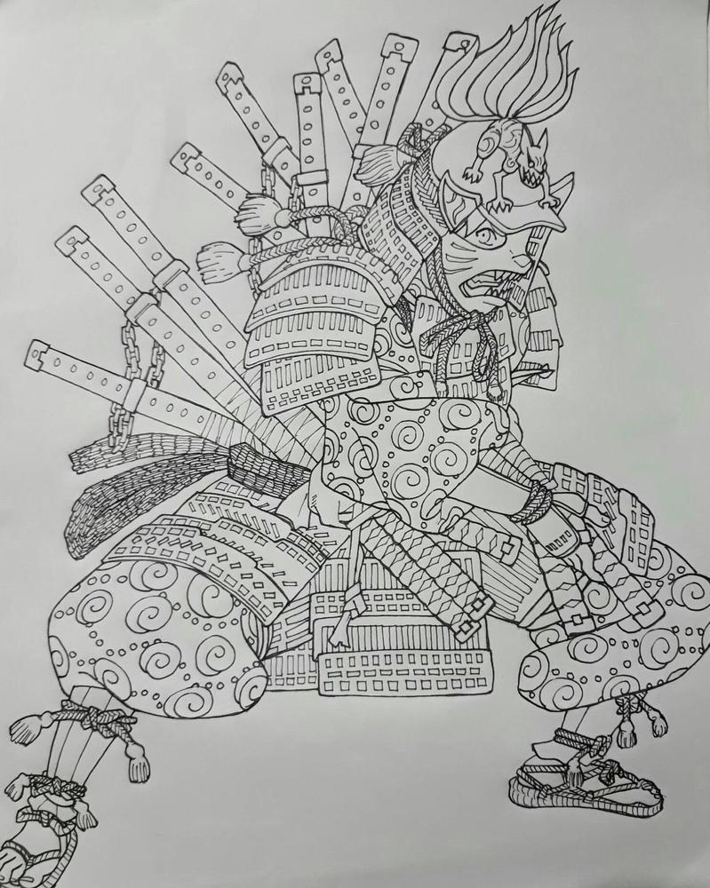Naruto in Samurai's armor by rhofrane