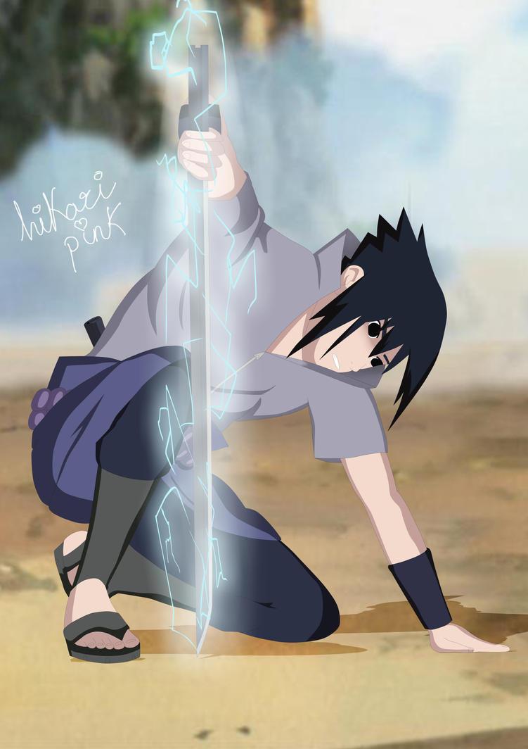 Sasuke Uchiha with Chidori Sword by hikaripink on DeviantArt
