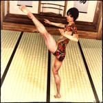 Kaoru Kicks High by TritiumCG