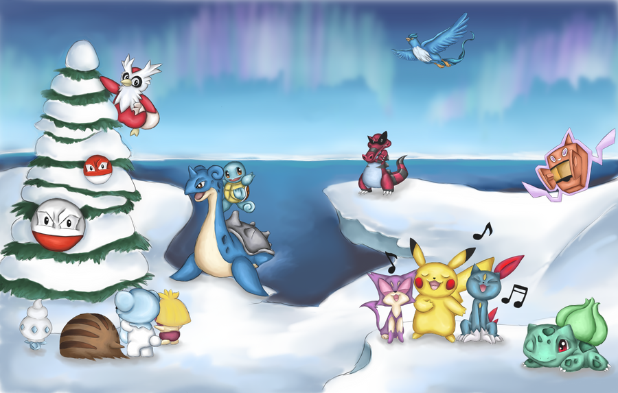 Christmas with Pokemon by Miri33