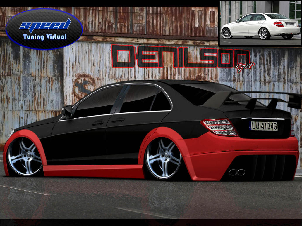 mercedes benz c220 tuned by denilsondesign on deviantart. Black Bedroom Furniture Sets. Home Design Ideas