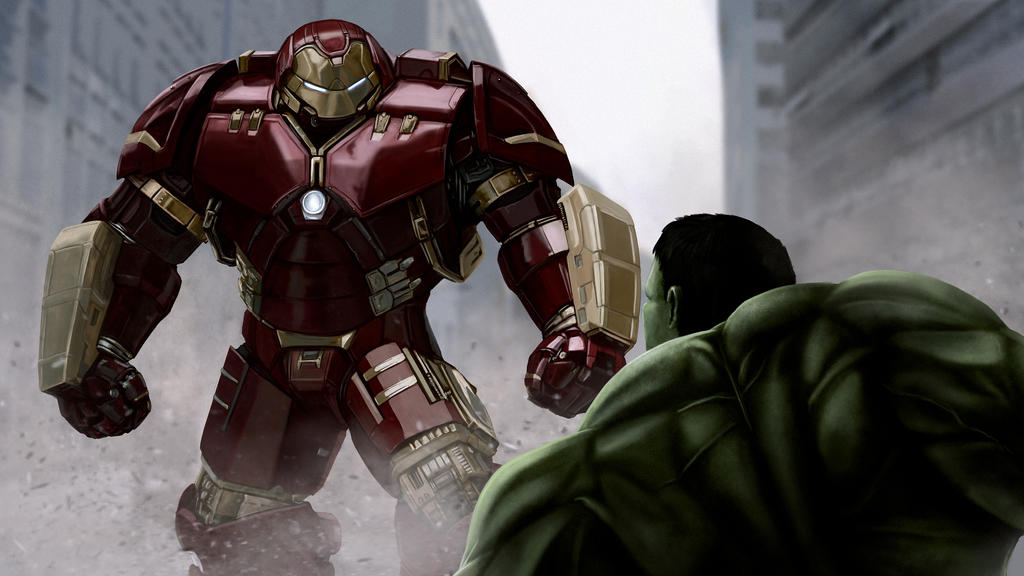Iron man Hulkbuster VS The Hulk by xynode