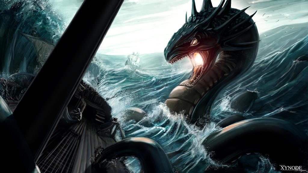 Sea Serpent by xynode