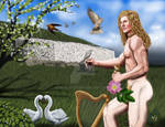 Aengus, Gaelic God of Love, Youth, Beauty, Muse by diddles25