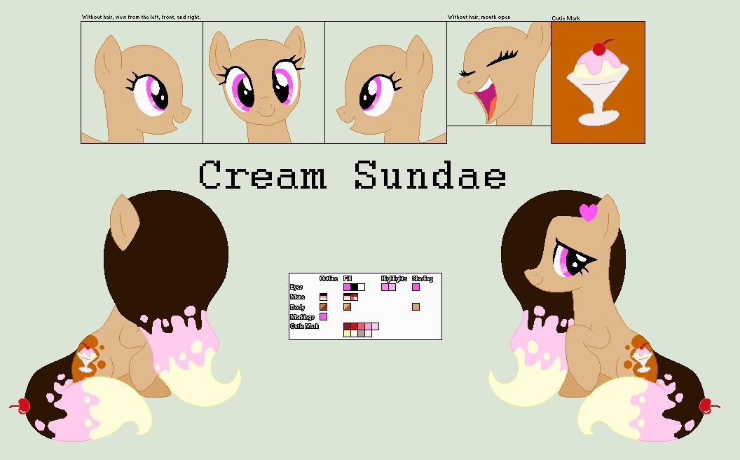 Mlp OC: Cream Sundae by Llamagal21