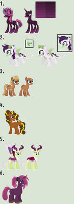 MLP Customs #36, #37, #38, #39, #40, and #41