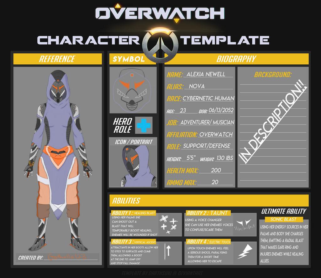 Alexia 'Nova' Newell - Overwatch OC by Gothalla123 on DeviantArt