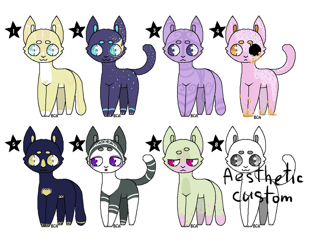 Kitties adoptables [7/8 OPEN | Prices lowered !] by Lilkiwishop