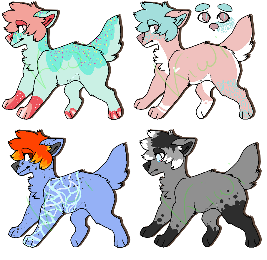 Doggos adoptables [2/4 OPEN Prices lowered] by Lilkiwishop