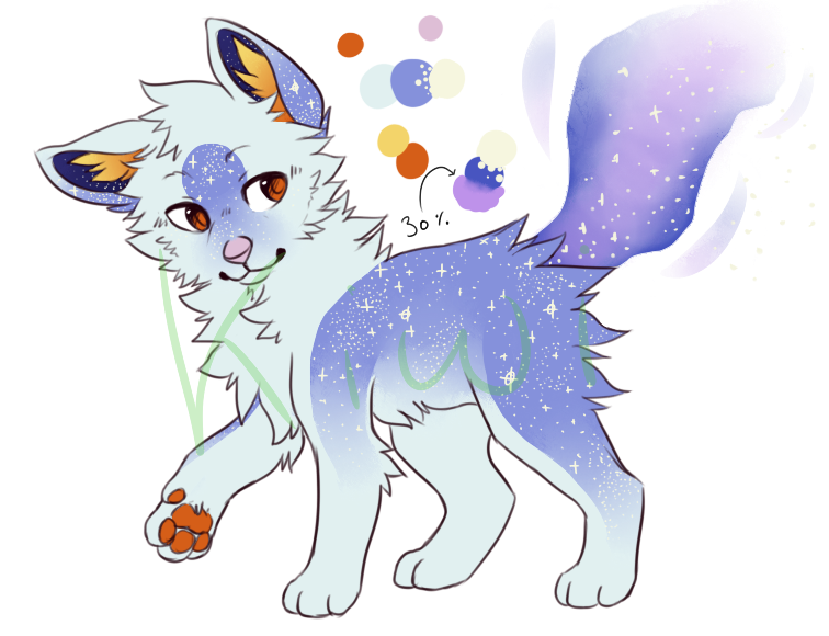 Star kitty adoptable [AUCTION - CLOSED ] by Lilkiwishop