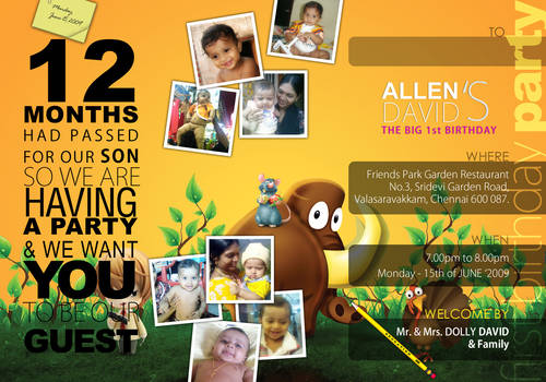 Allen David's 1st Birthday