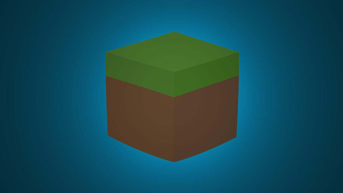 Fantastic Wallpaper Minecraft Minimalistic - minecraft_minimalist_grass_block_wallpaper__by_darkgs-d7g0zbu  Picture_894020.png