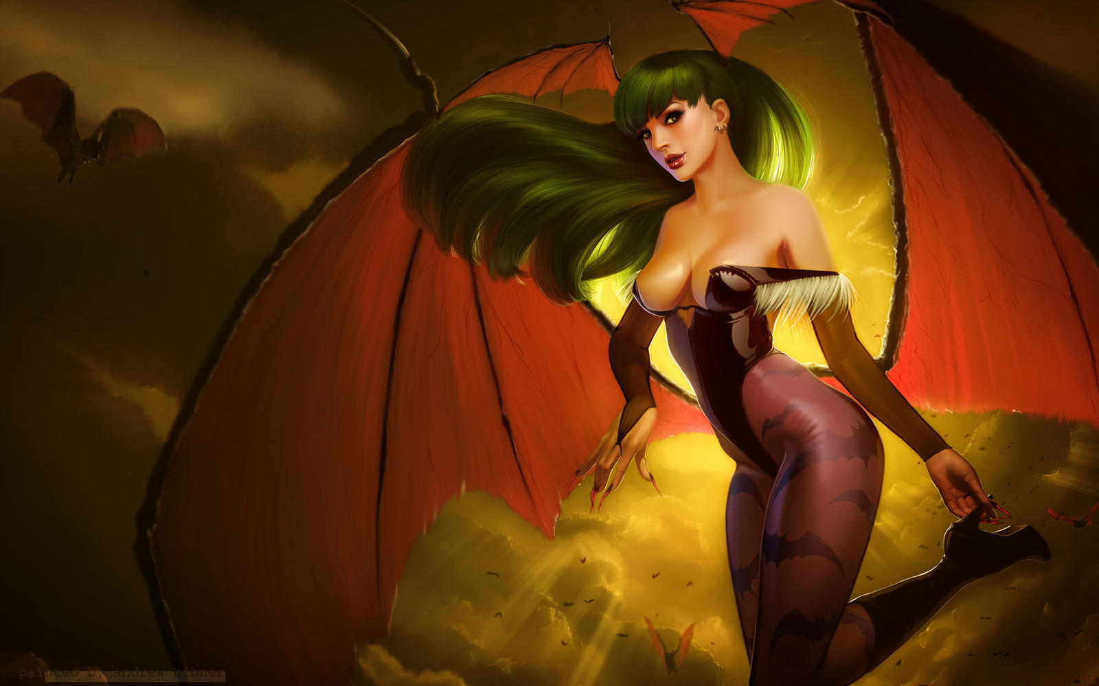 wallpaper: morrigan by achibner