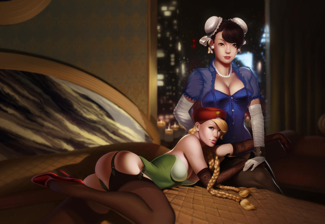 chun li and cammy by achibner