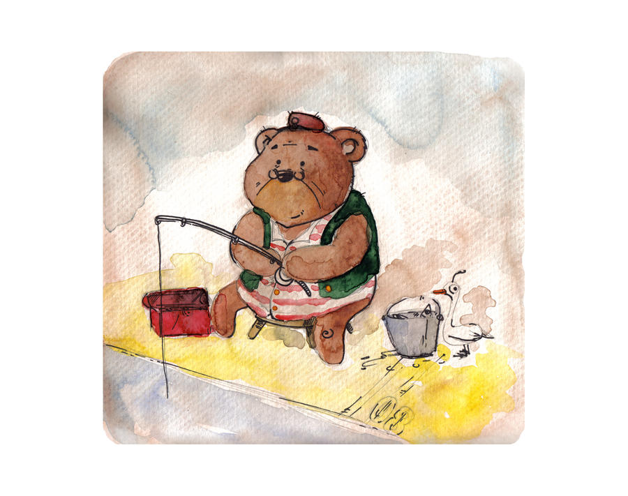 Fishing Bear by doveinjar