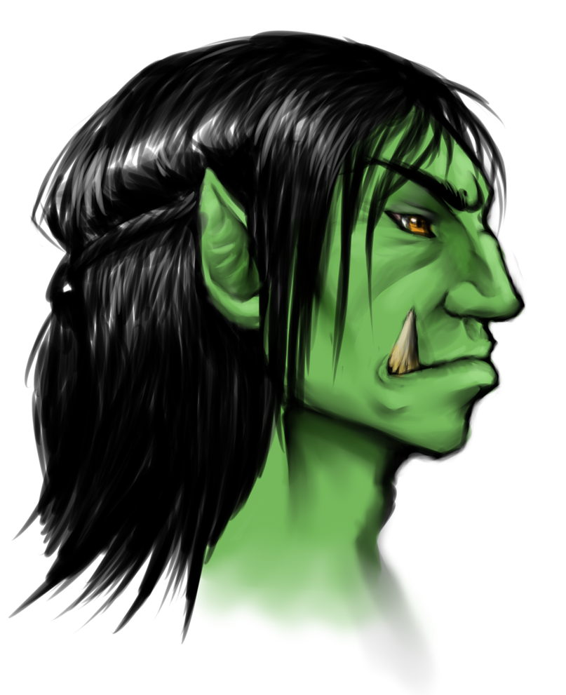 Orc Head-shot by CooroJaden