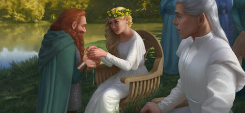 Galadriel's gift to Gimli by Magianna