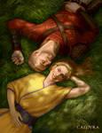 Caldyra - Ninae and Rotgar by Magianna