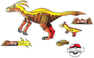 Fakemon: fossil pokemon by Spotted--Jaguar