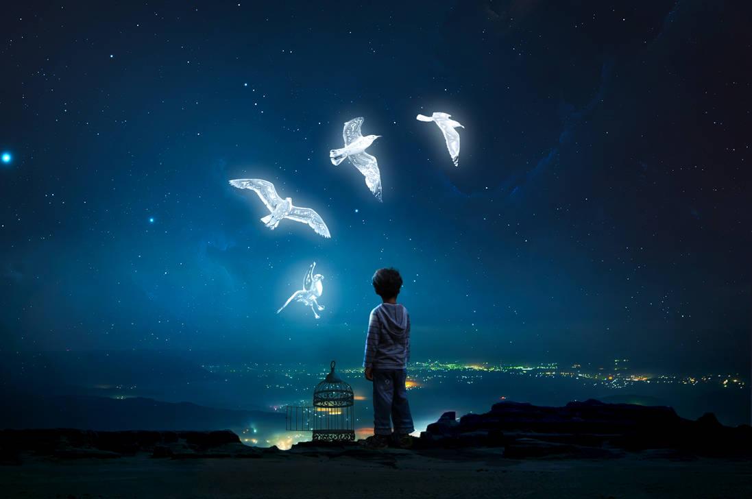 Freedom artwork || Photoshop tutorial light things by mohamedsaberartist
