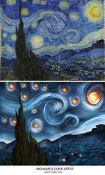 The Starry Night 2020 by mohamedsaberartist