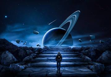 Mission on Saturn by mohamedsaberartist