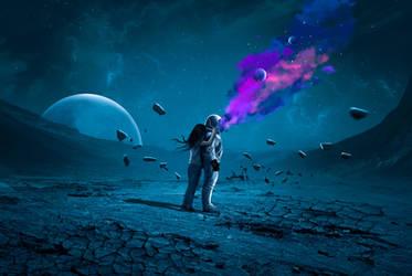Space Explosion by mohamedsaberartist
