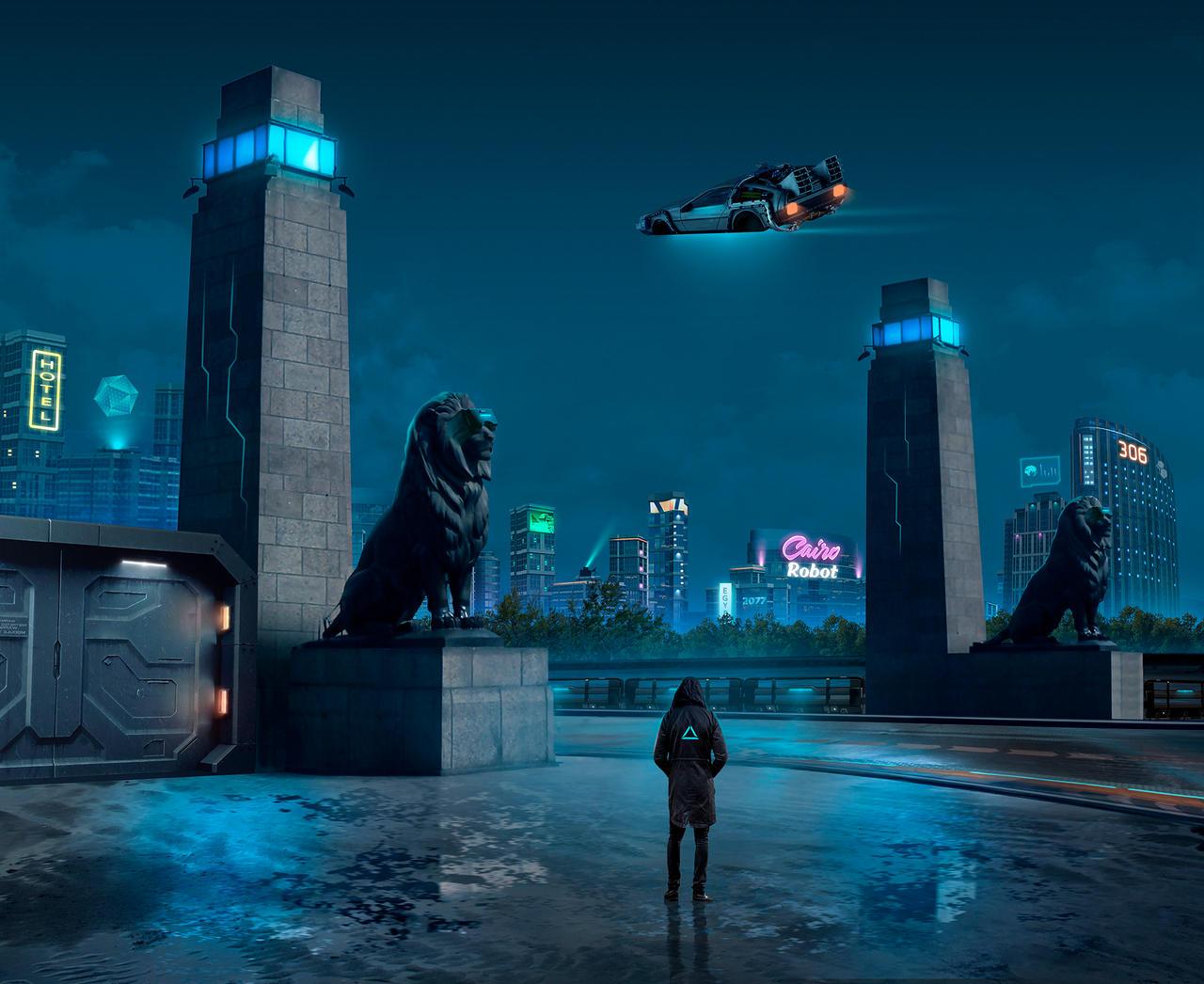 Egypt 2077 on Qasr El-Nil Bridge
