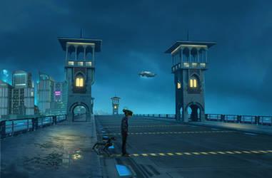 Egypt 2077 on Stanly Bridge