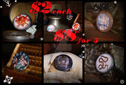 Buttons for sale